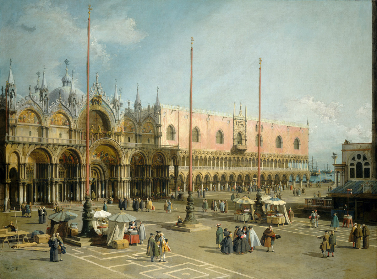 Canaletto's painting, The Square of Saint Mark's, Venice